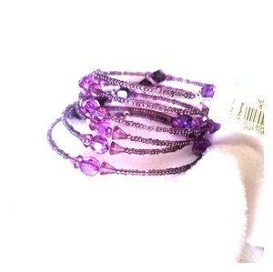Jewelry - Purple wrap around bracelet